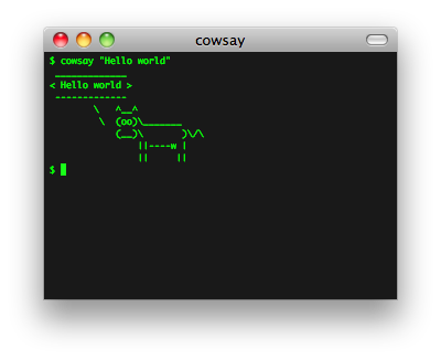 cowsay screenshot