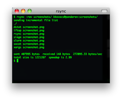 rsync screenshot