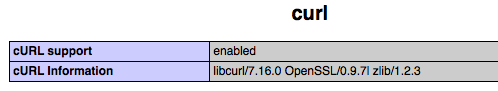 phpinfo_curl