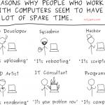 为啥搞电脑的会有这么多空闲时间?