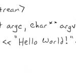 我有一个Hello World的C++程序编译不过