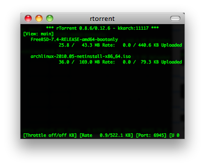 rtorrent screenshot