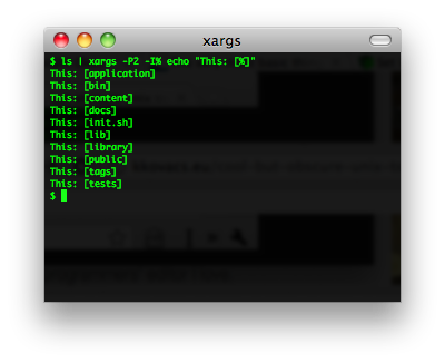 xargs screenshot